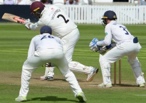 CC Essex (H) August 2018 Day 1 Marcus Trescothick 4 runs towrads 95