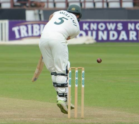 Day 2 Copyright Mike Williams Steven Mullaney lbw Craig Overton