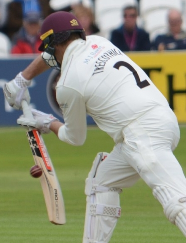 SvY Day 2 Marcus Trescothick ct Adam Lyth bld Ben Coad Photo copyright Mike Williams
