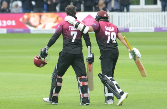 RLODC 50-over Som v Essex 260419 Peter Trego 100 runs (C) M Williams